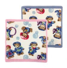 Feiler Little Skipper Washcloth - Pink/Blue